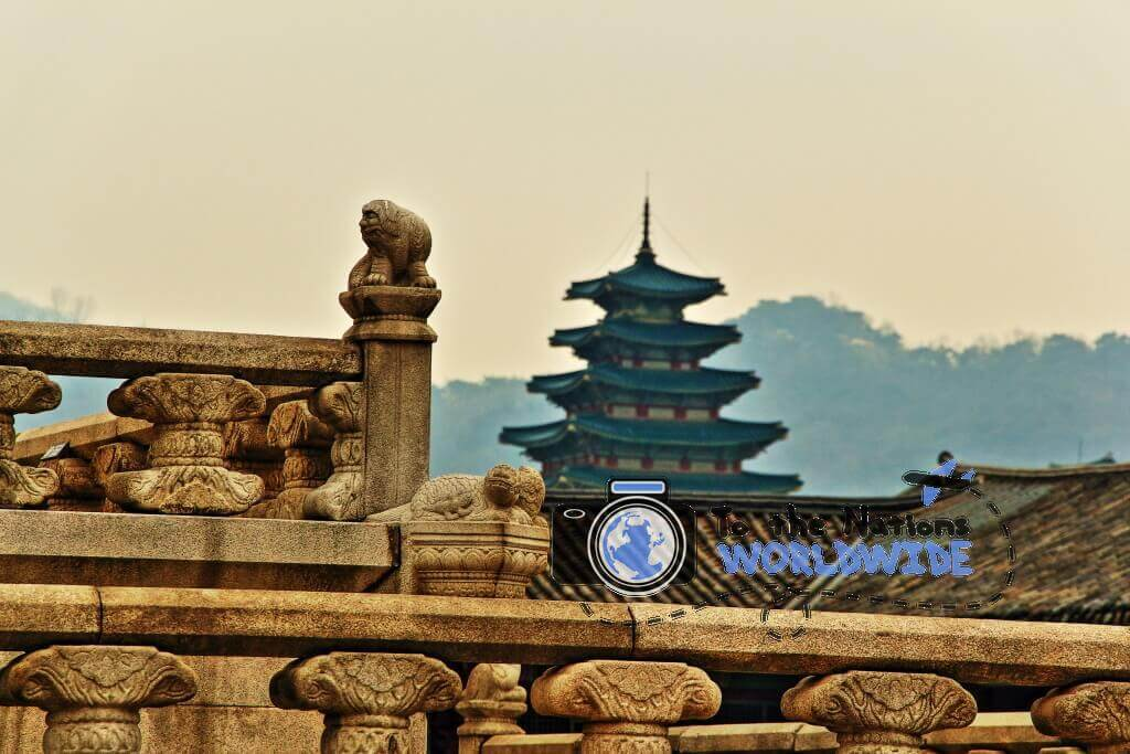 Travel Photo Views of Gyeongbokgung, Seoul, South Korea