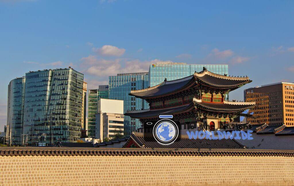 Travel Photo Gyeongbokgung Versus Modernization, Seoul, South Korea