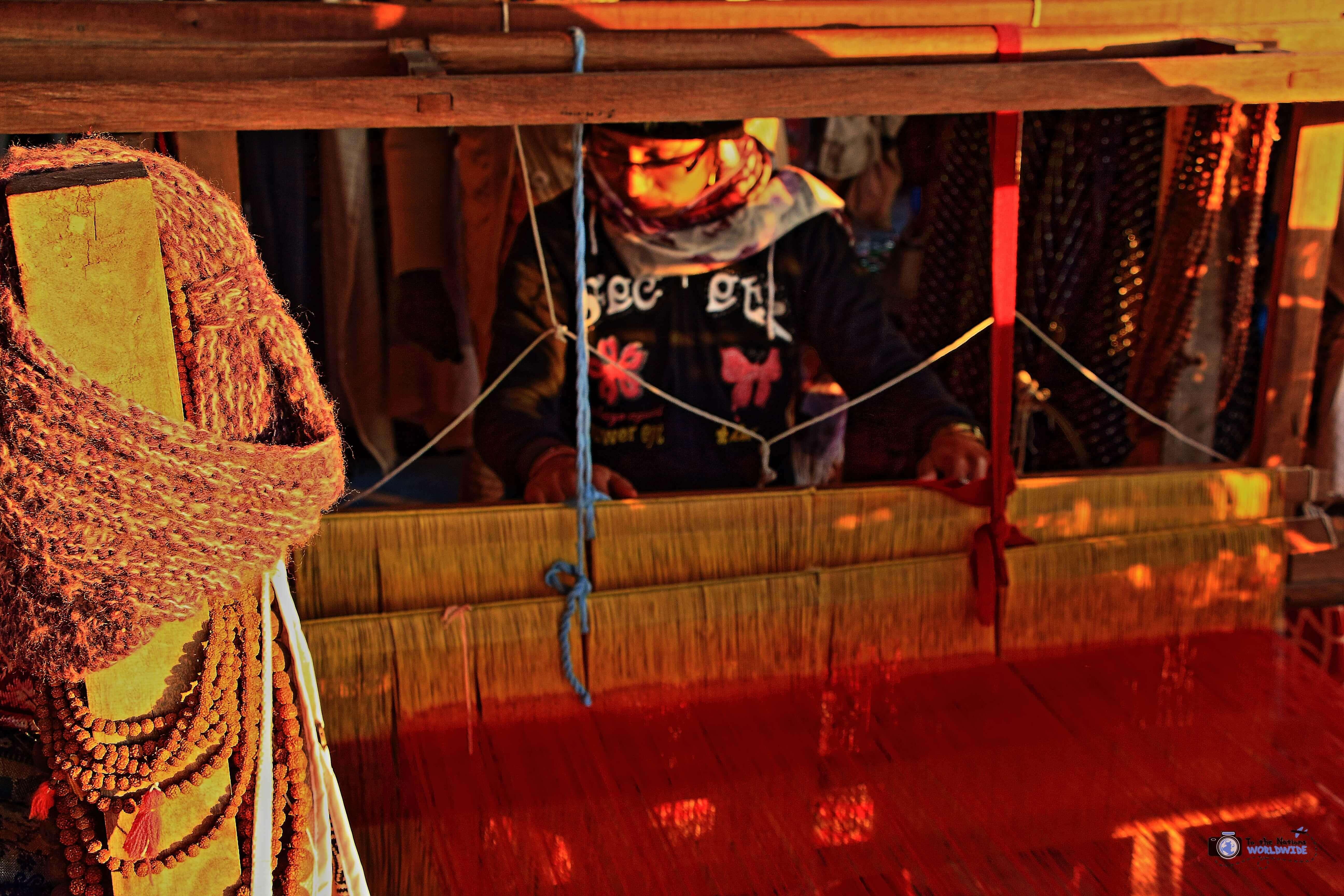 Nepali Tradition: Weaving Pashmina in Pokhara, Nepal