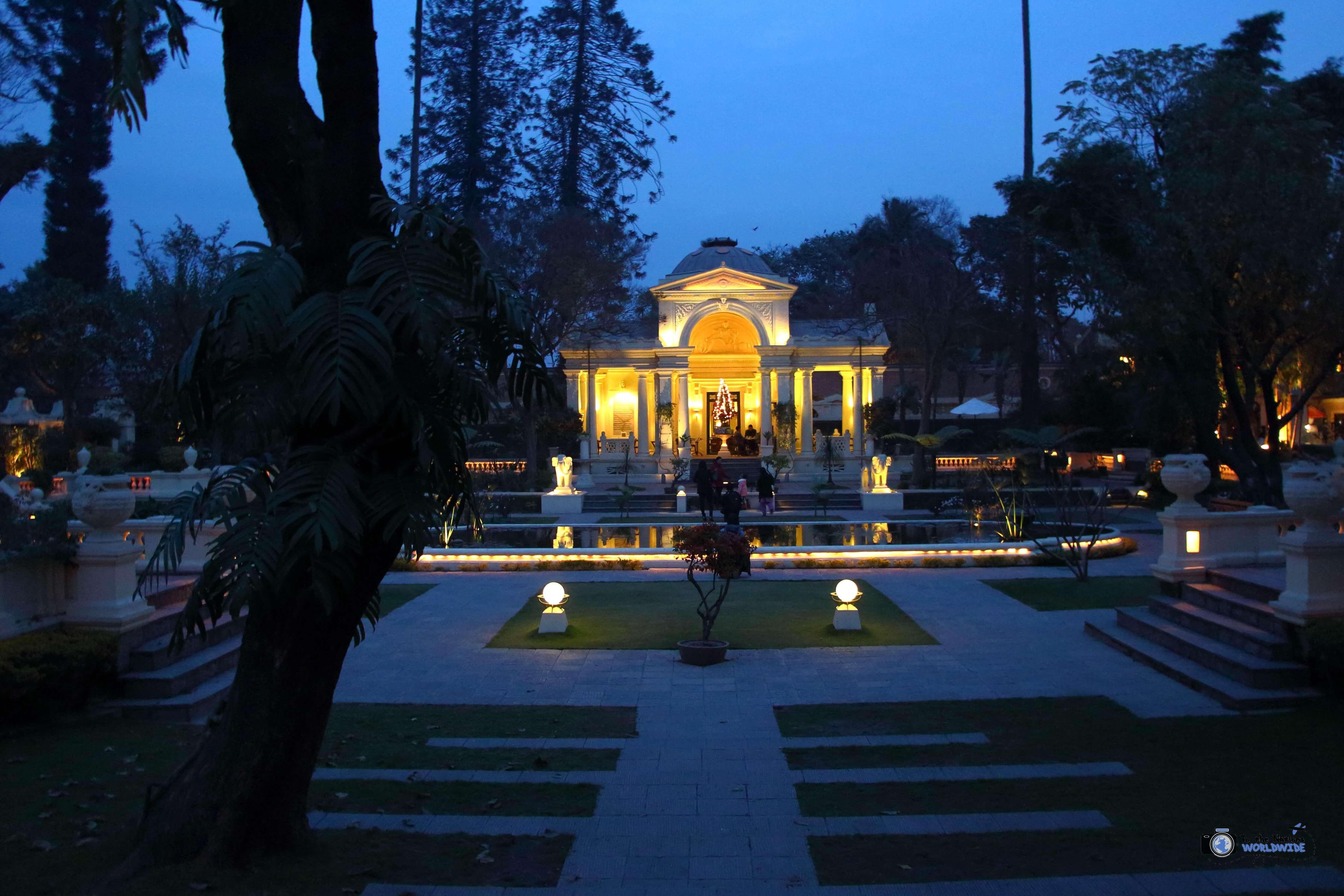 Courtyard in The Garden of Dreams, Thamel, Kathmandu, Nepal