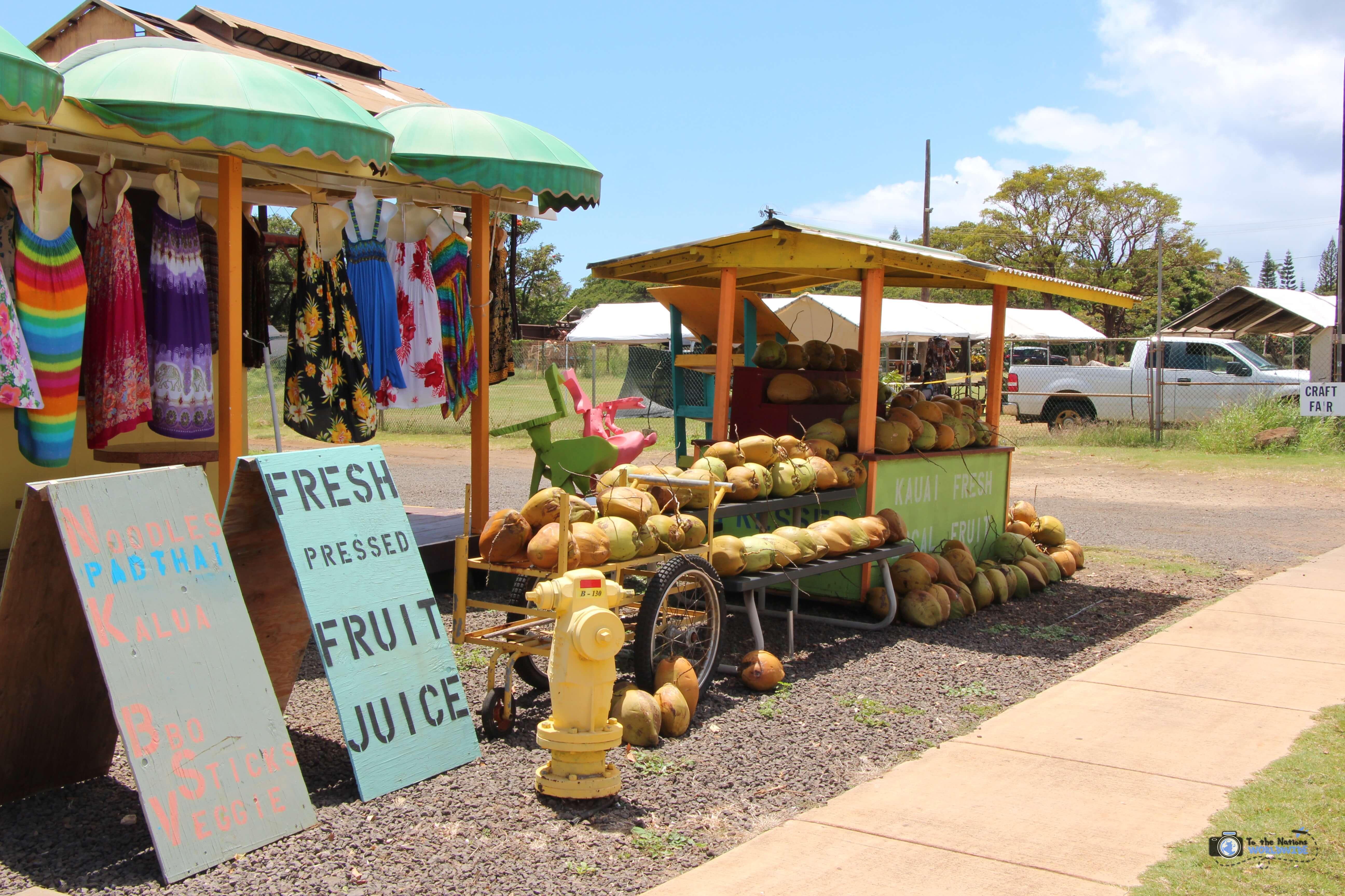 Fruit Vendor on Kauai Island, Hawaii