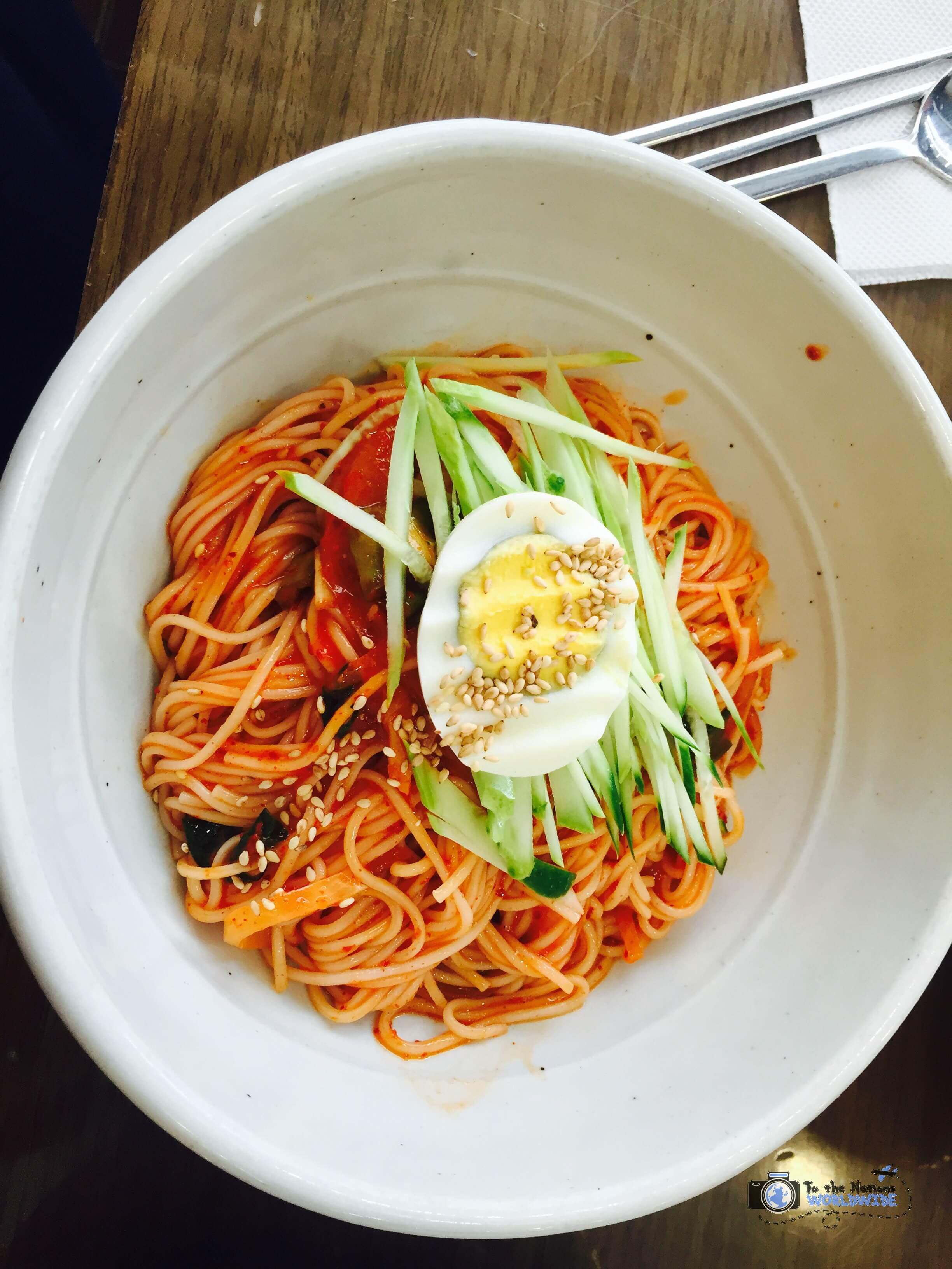 Bibimguksu, Cold Noodles, Seoul, South Korea
