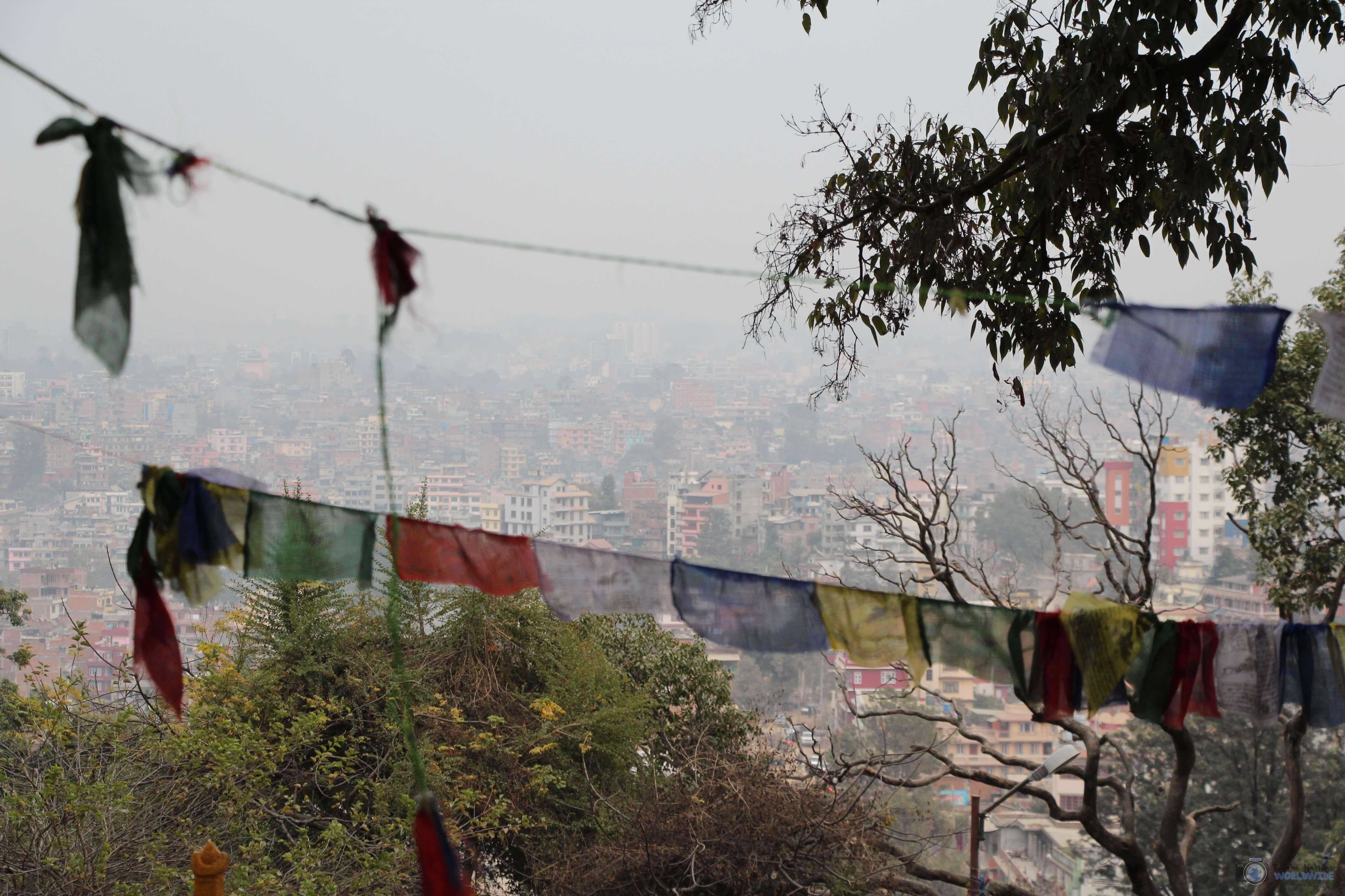View from Swayambhunath Monkey Temple, Kathmandu, Nepal