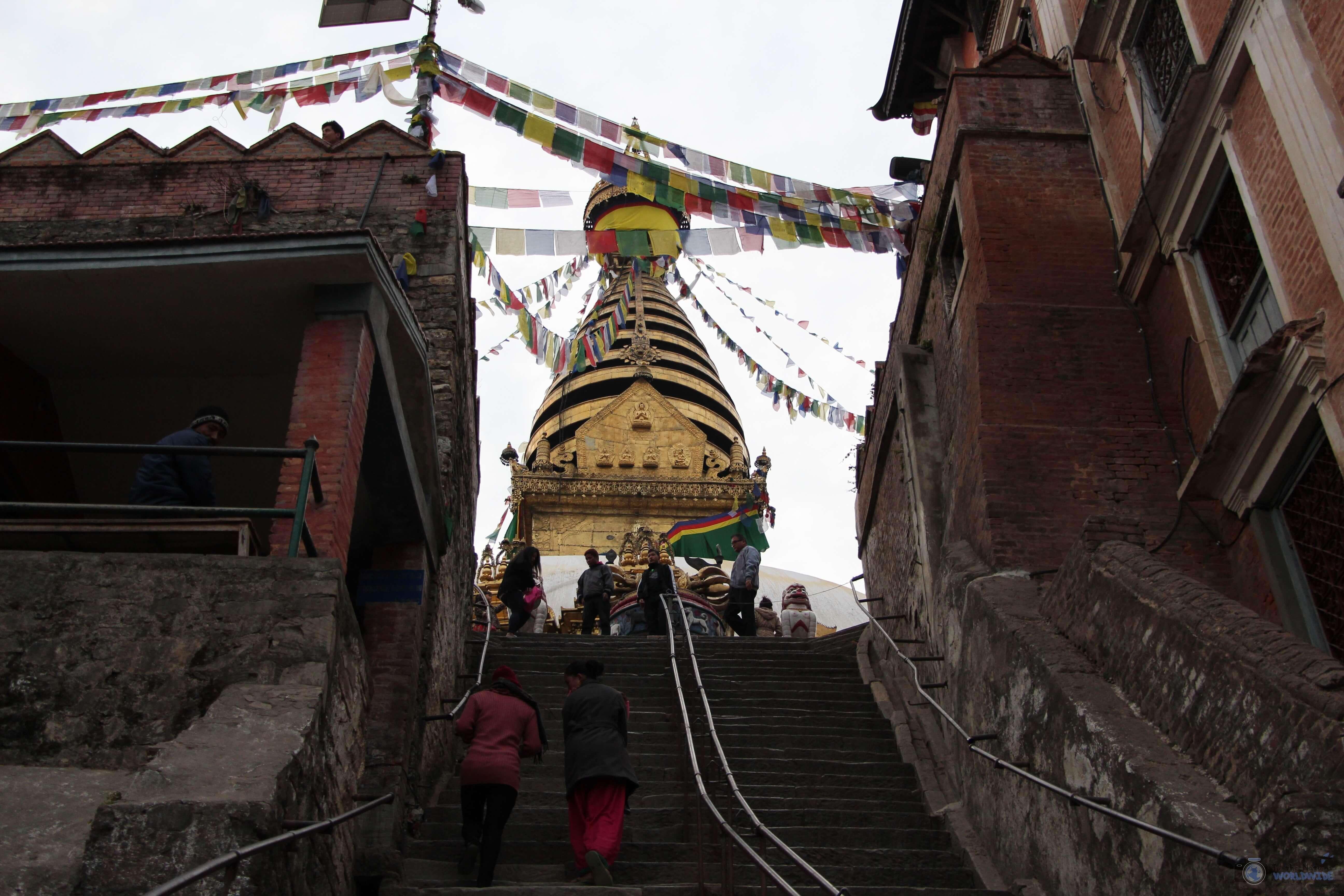 The Top of Swayambhunath Monkey Temple, Kathmandu, Nepal