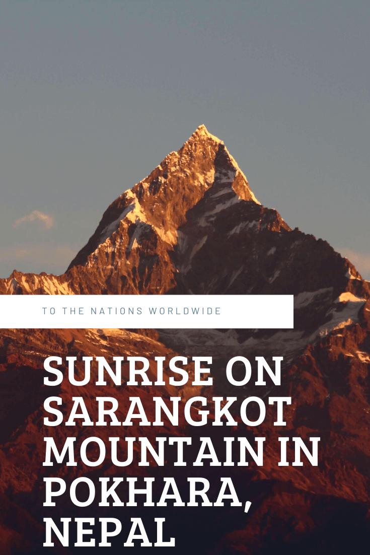 Sunrise on Sarangkot Mountain in Pokhara, Nepal
