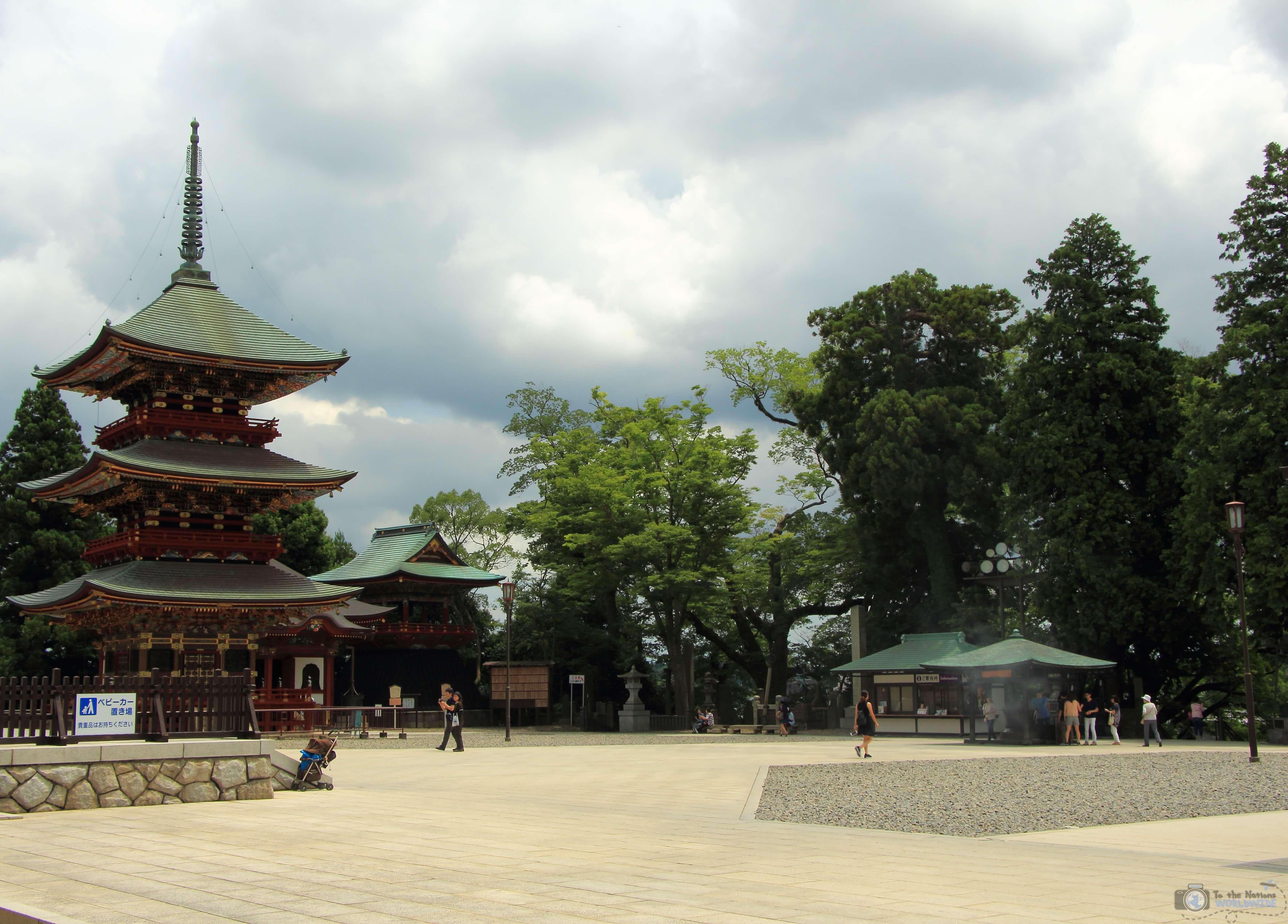 Three-Storied Pagoda in Naritisan Shinshoji Temple in Narita, Japan