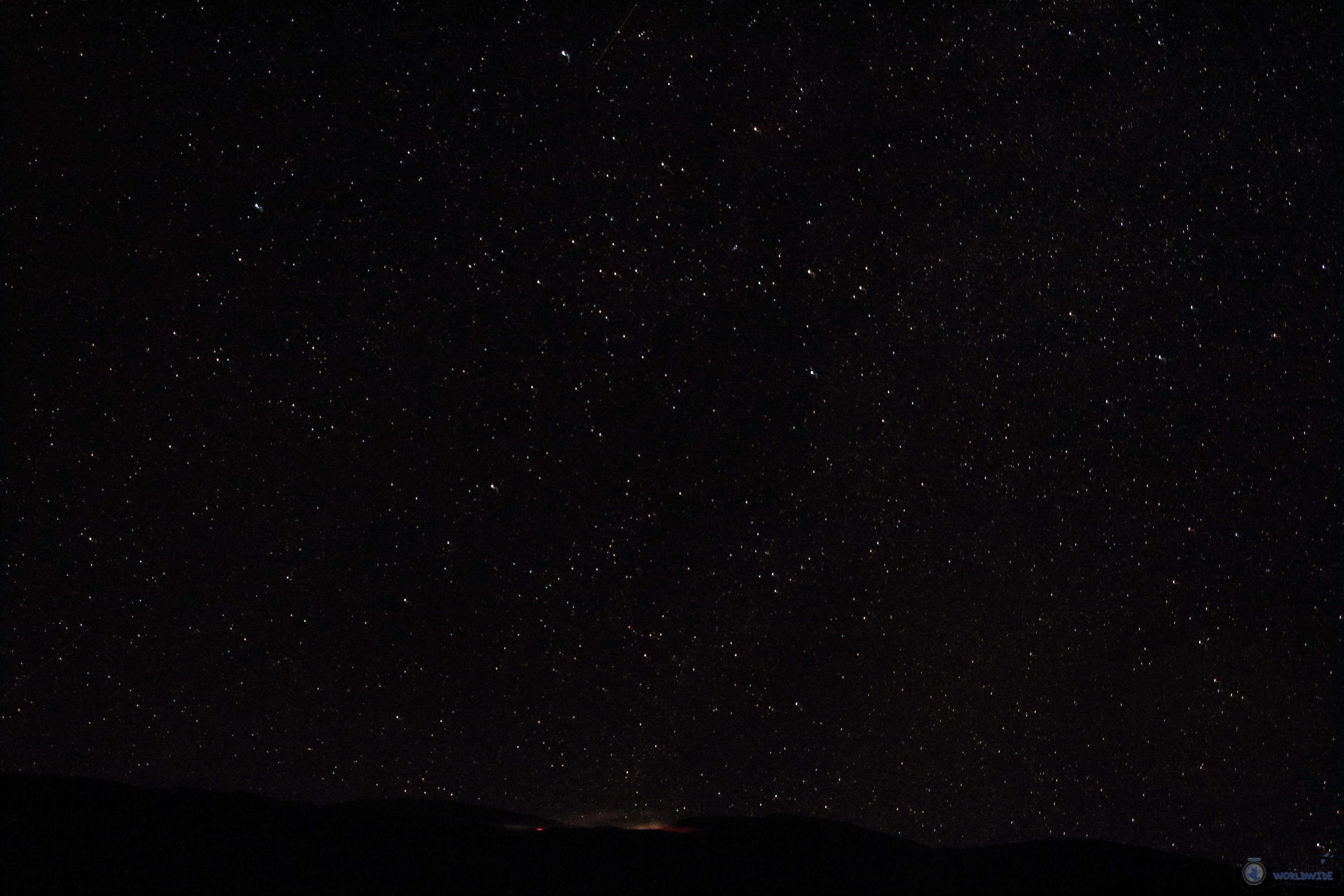 Stars at Mauna Kea Visitor's Center, Island of Hawaii, Hawaii