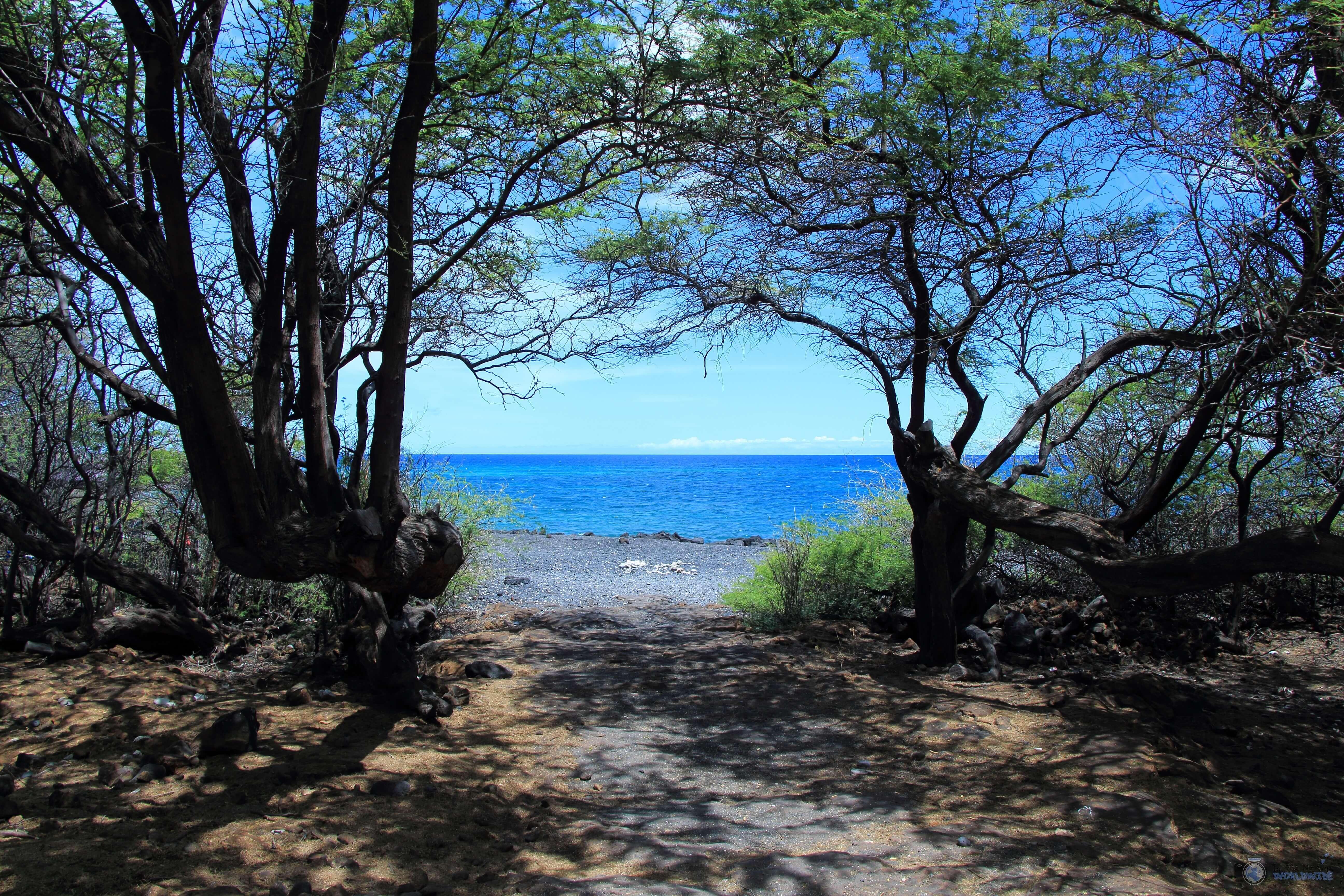Entrance to Kiholo Bay, Kona, Island of Hawaii