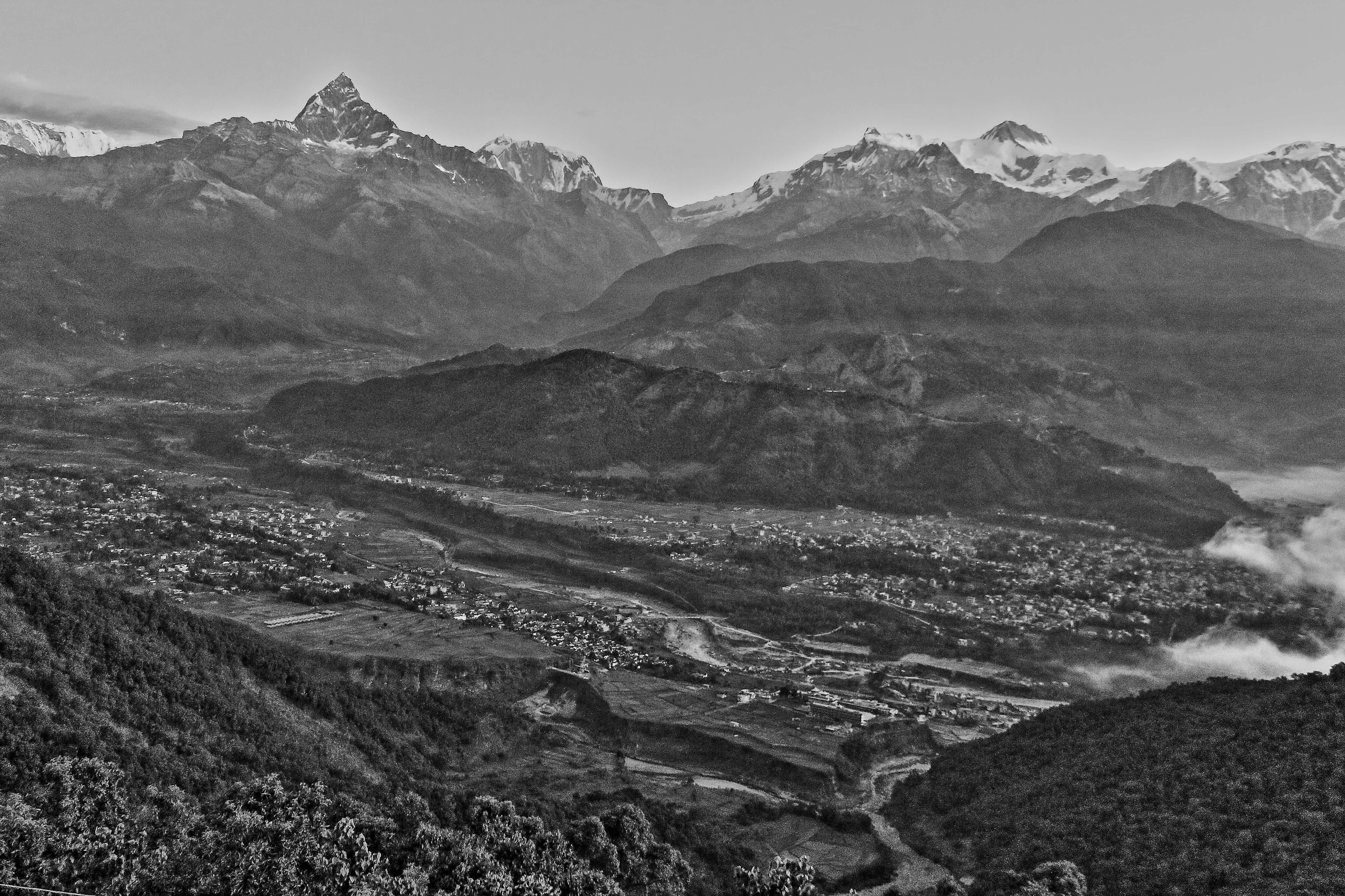 Monochrome Annapurna Sunrise