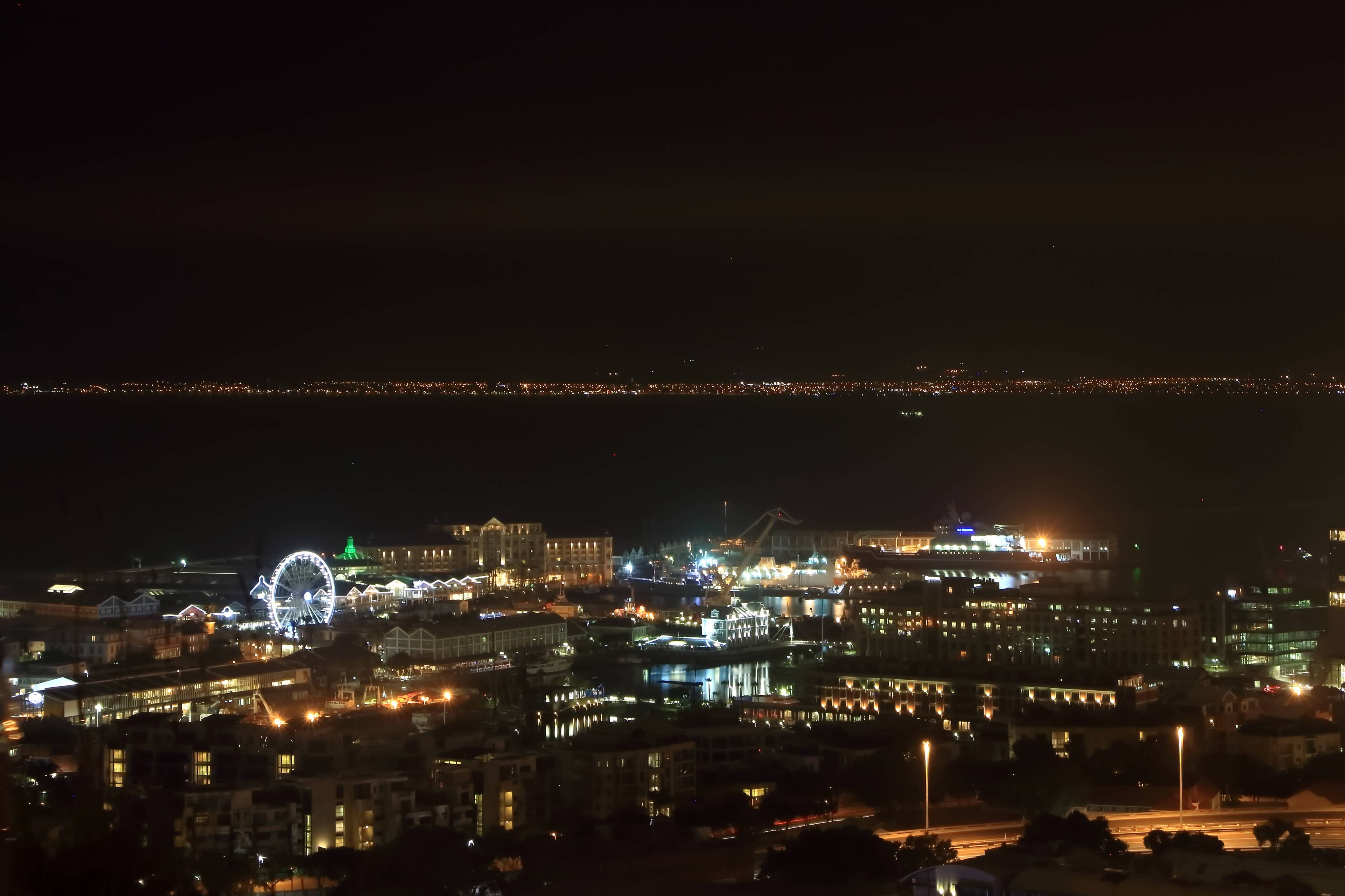 Cape town at night from Bo Kaap