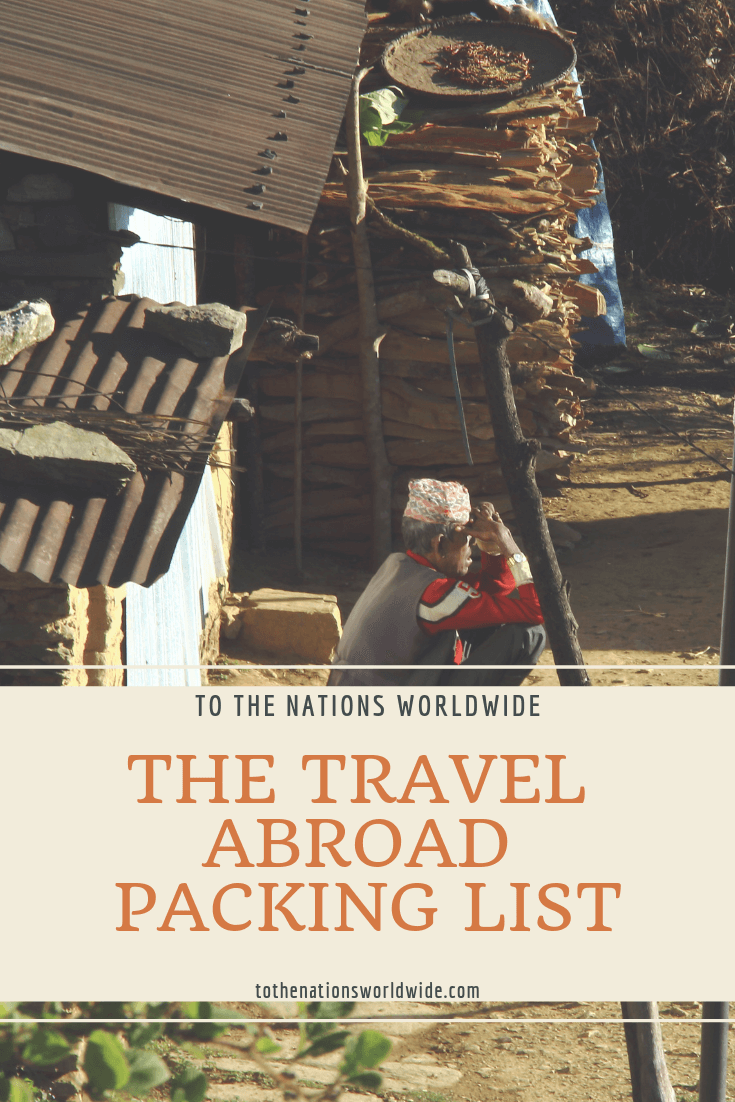 The Travel Abroad Packing List