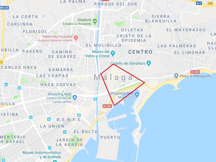 Malaga Spain Map