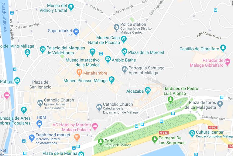Walking Tour of Malaga, Spain