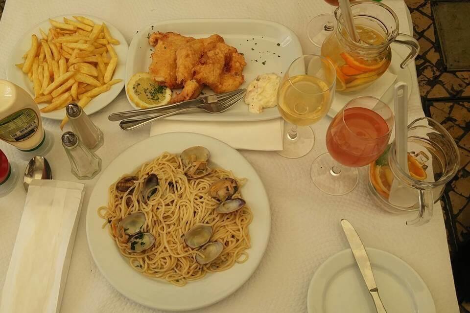 Alfama Eating, Lisbon, Portugal