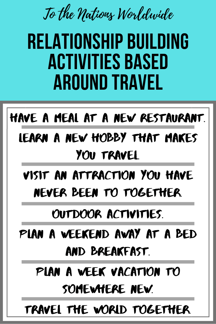 Relationship Building Activities Based Around Travel List