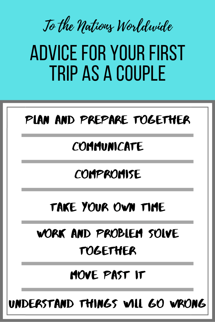 Advice for Your First Trip as a Couple List