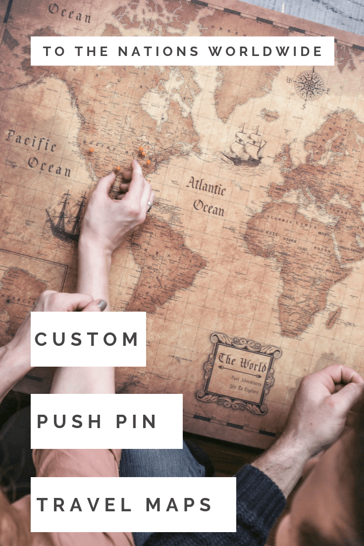 Custom Push Pin Travel Maps